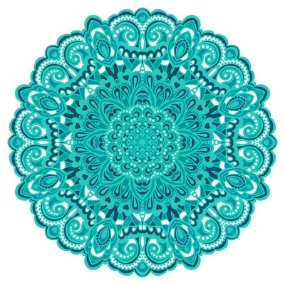 Flower Mandala. Abstract element for design Wall Decal