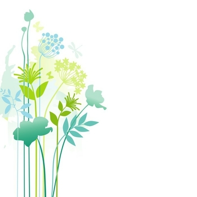 Floral corner decor Wall Decal