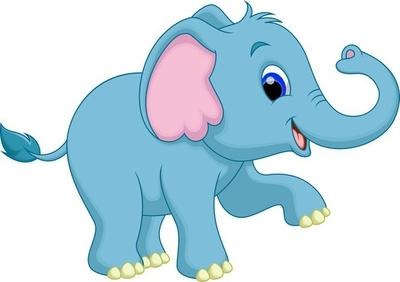 Duvar Çıkartması Sevimli fil karikatür