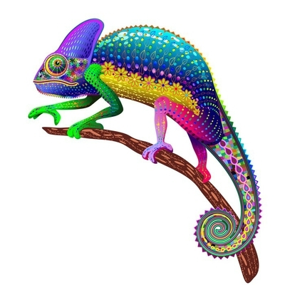 9373ed10a9bda Chameleon Fantasy Rainbow Colors Wall Decal