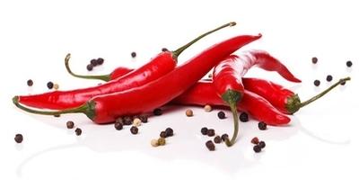Naklejka na ścianę Czerwona papryka chili