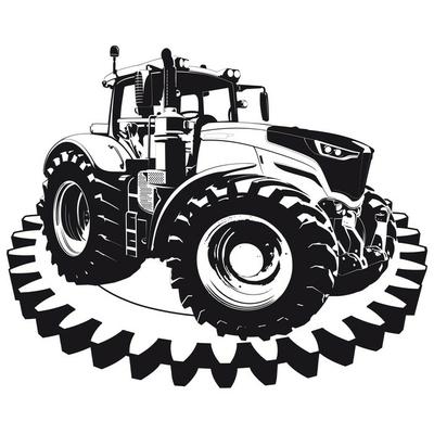 Naklejka na ścianę Ciągnik rolniczy maszyny rolnicze