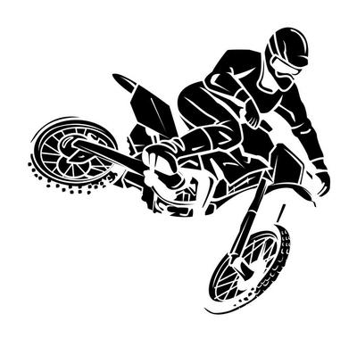 Wandtattoo Moto-Cross-Fahrer