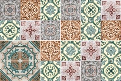 Kakeldekor Mosaic - klistermärken på plattorna