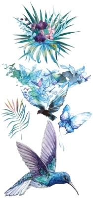 turquoise magnifique Paquet de stickers