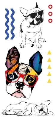 Cute dogs Sticker set
