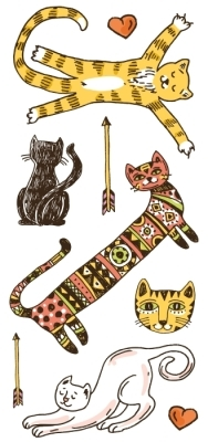 Gatos Conjunto de autocolantes