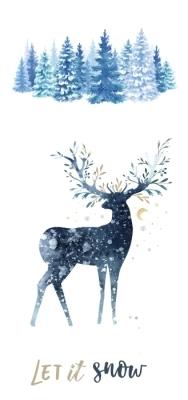 Inverno na floresta Conjunto de autocolantes
