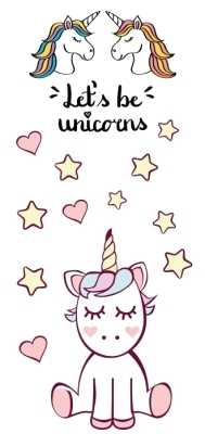 Let's be unicorns Sticker set