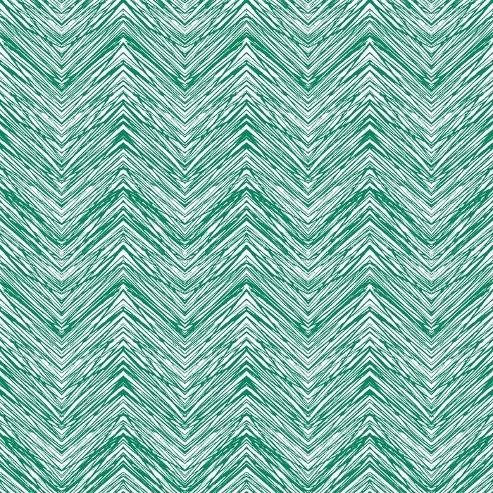 Tumbona Patrón de zigzag de vector dibujado a mano verde esmeralda - Recursos gráficos
