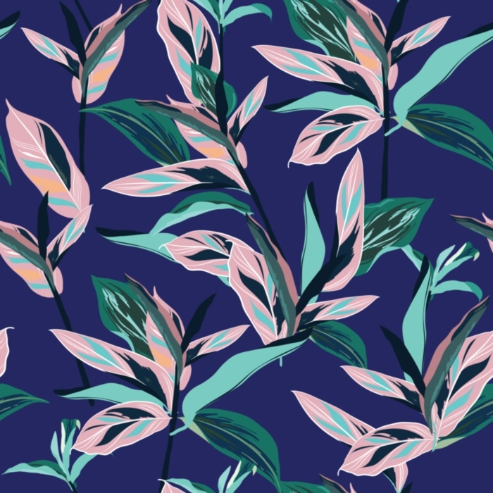 Fresh summer colorful Tropical leaves Seamless graphic design with amazing palms. Fashion, interior, wrapping, packaging suitable. Deck chair - Graphic Resources