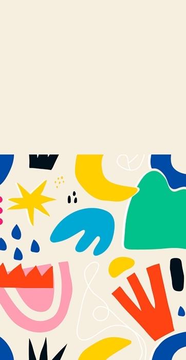 Colorido vector sencillo de patrónes de palmas Bolsas de algodón -