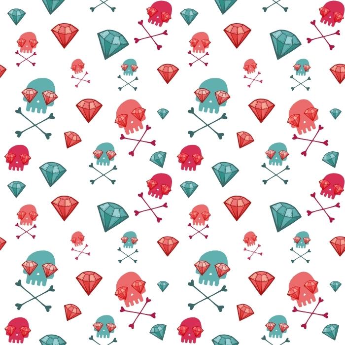 Skulls and rubies Pixerstick Sticker - Teen room LP