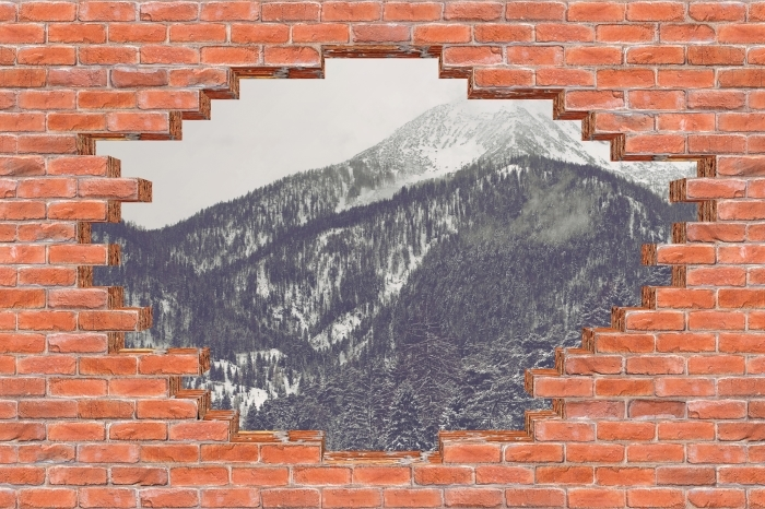 Papier peint vinyle Trou dans le mur - Nuages - Les trous dans le mur