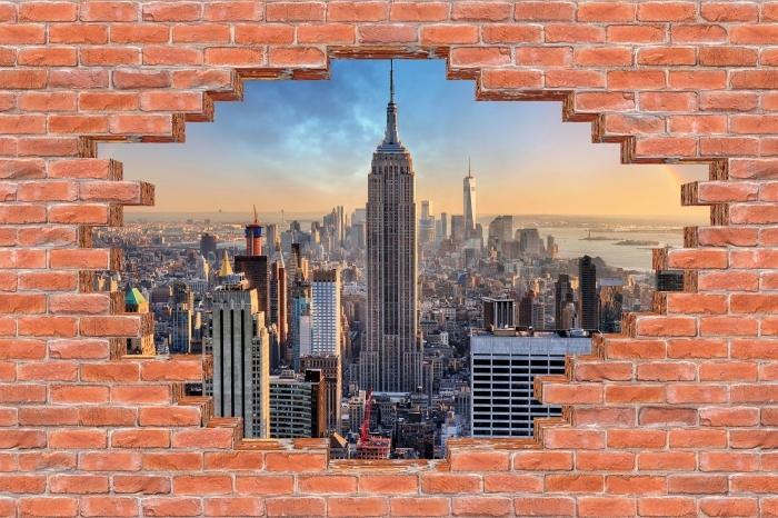 Fototapeta winylowa Dziura w murze - Nowy Jork - Dziury w ścianie