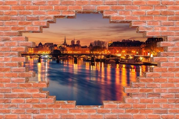 Papier peint vinyle Trou dans le mur - Paris - Les trous dans le mur