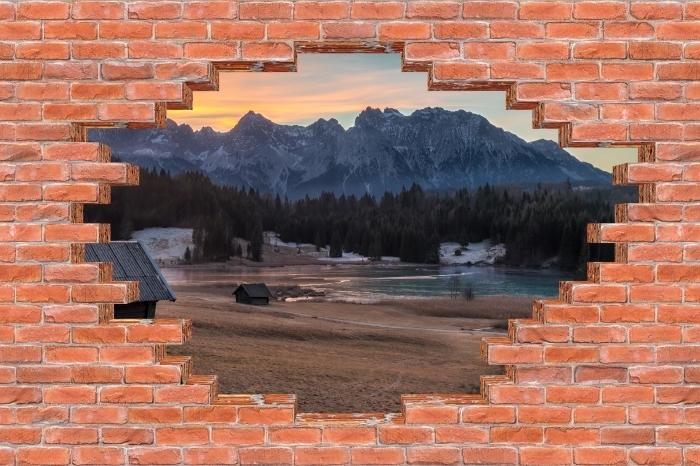 Papier peint vinyle Trou dans le mur - Bavière - Les trous dans le mur