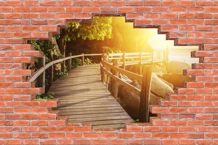 Fototapeta winylowa Dziura w murze - Tajlandia - Dziury w ścianie