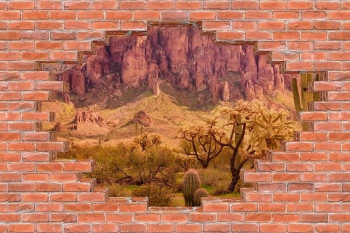 Vinyl-Fototapete Loch in der Wand - Arizona - Durchbruch in der Wand