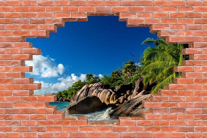 Fototapeta winylowa Dziura w murze - Tropiki - Dziury w ścianie