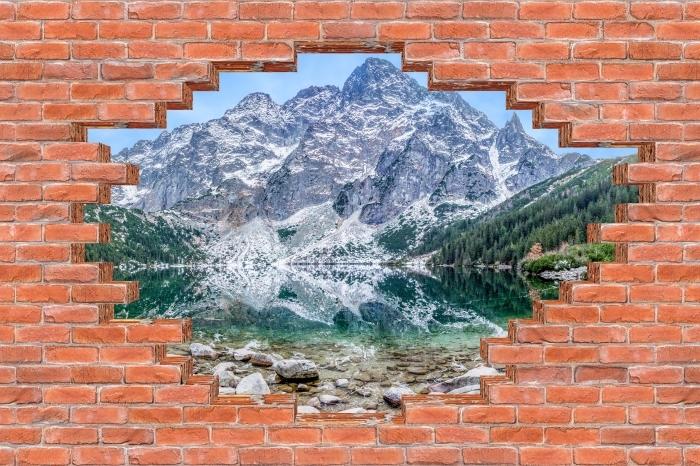 Fototapeta winylowa Dziura w murze - Morskie Oko - Dziury w ścianie