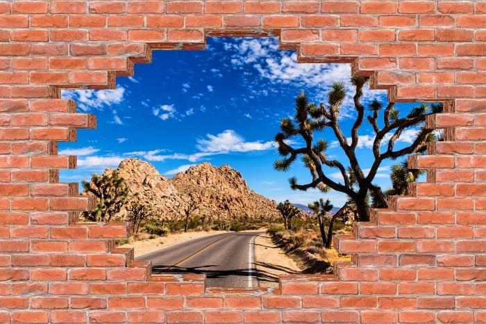 Vinyl-Fototapete Loch in der Wand - Nationalpark in Kalifornien - Durchbruch in der Wand