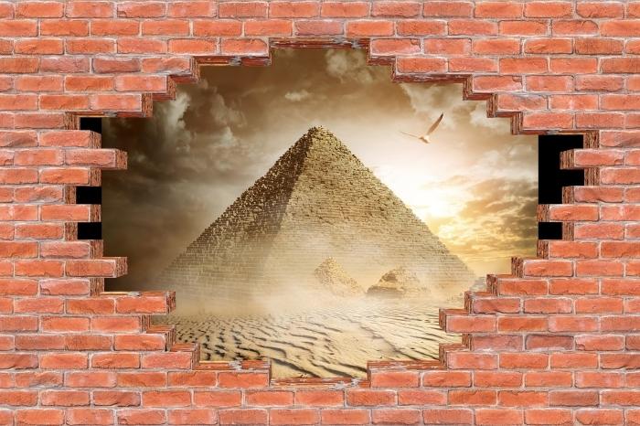 Fototapeta winylowa Dziura w murze - Pustynia - Dziury w ścianie