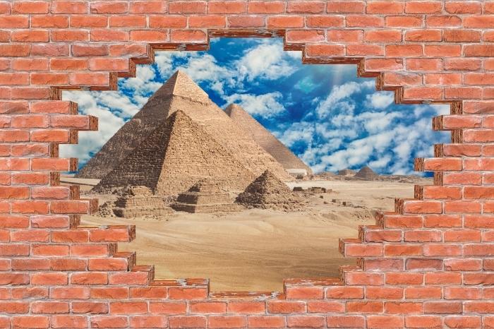 Vinyl-Fototapete Loch in der Wand - Ägypten - Durchbruch in der Wand