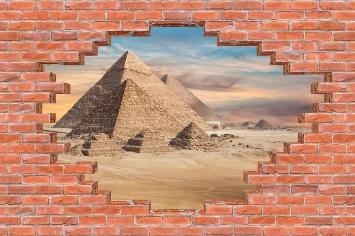 Fototapeta winylowa Dziura w murze - Egipt - Dziury w ścianie