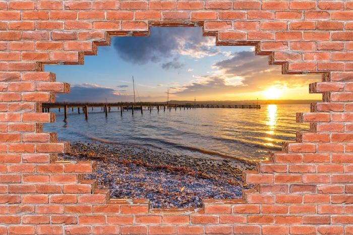 Fototapeta winylowa Dziura w murze - Marze - Dziury w ścianie