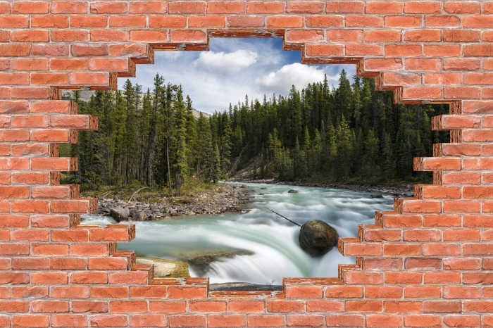 Hole in the wall - Canada Vinyl Wall Mural - Holes in the wall