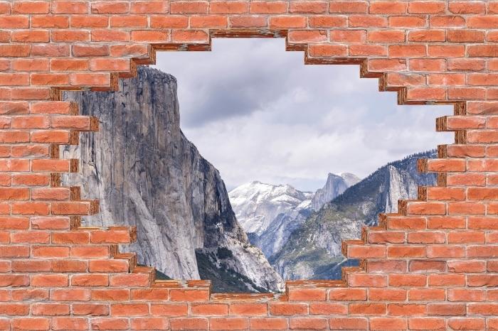 Vinil Duvar Resmi Yosemite Ulusal Parkı - duvardaki delik - Duvarda delikler