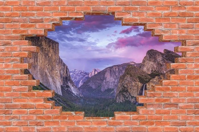 Fototapeta winylowa Dziura w murze - Park Narodowy Yosemite - Dziury w ścianie