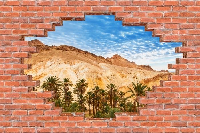 Fotomural Estándar Agujero en la pared - oasis de montaña - Agujeros en la pared
