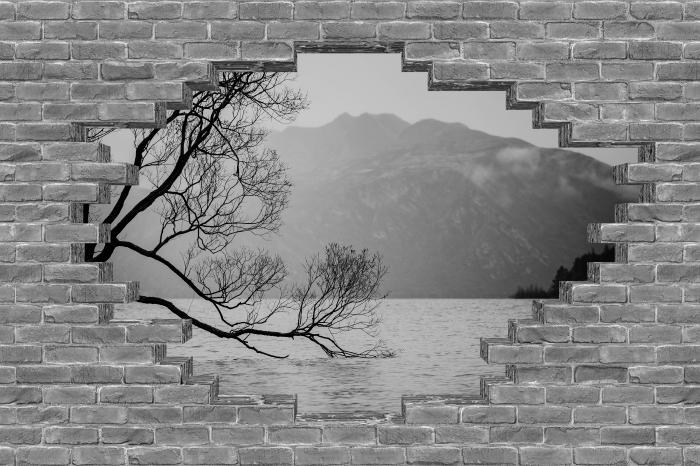 Fotomural Estándar Agujero en la pared - paisaje. nueva Zelandia - Agujeros en la pared