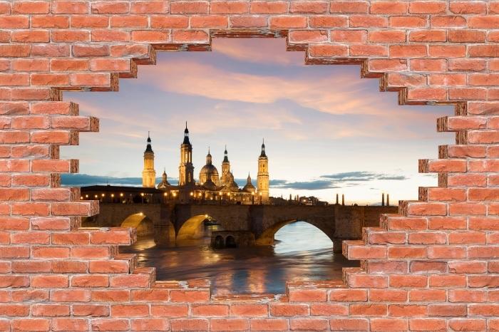 Vinyl-Fototapete Loch in der Wand - Kathedrale. Spanien. - Durchbruch in der Wand