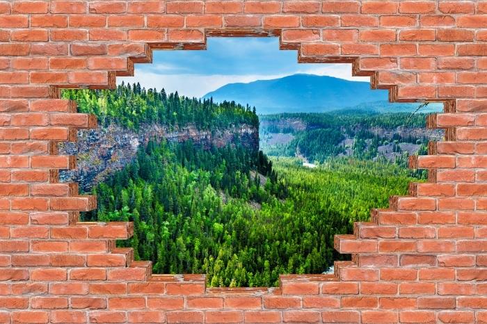 Fototapeta winylowa Dziura w murze - Kolumbia. - Dziury w ścianie