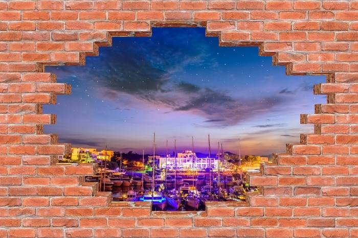 Fototapeta winylowa Dziura w murze - Majorka. - Dziury w ścianie