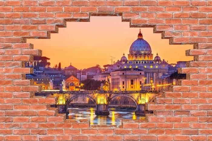 Vinyl Fotobehang Gat in de muur - kathedraal van St. Peter. Rome - Gaten in de muur
