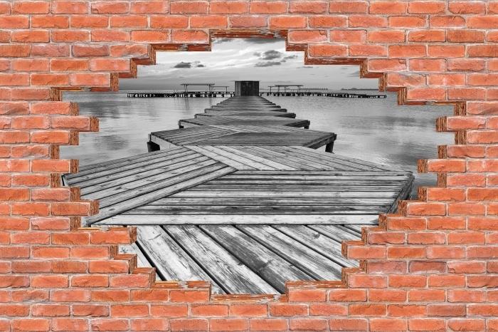 Fototapeta winylowa Dziura w murze - Przystań - Dziury w ścianie