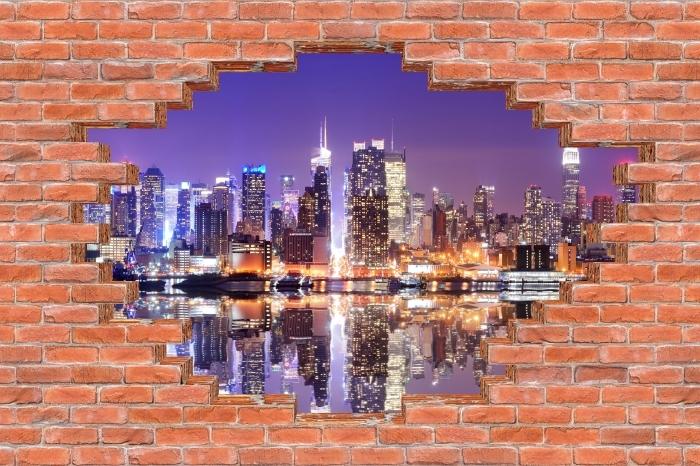 Papier peint vinyle Trou dans le mur - Manhattan - Les trous dans le mur