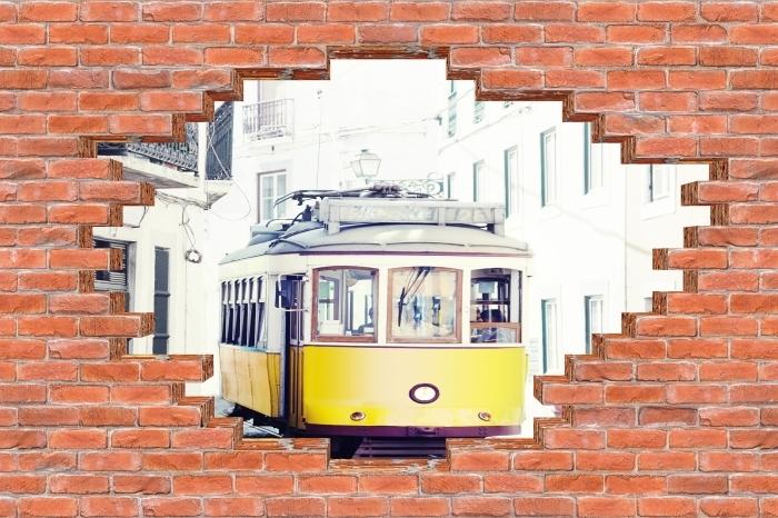 Fototapeta winylowa Dziura w murze - Lizbona - Dziury w ścianie