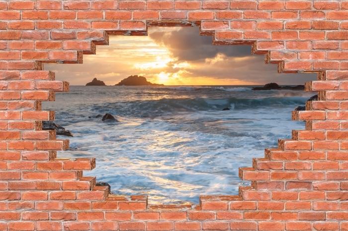 Fototapeta winylowa Dziura w murze - Wielka Brytania - Dziury w ścianie