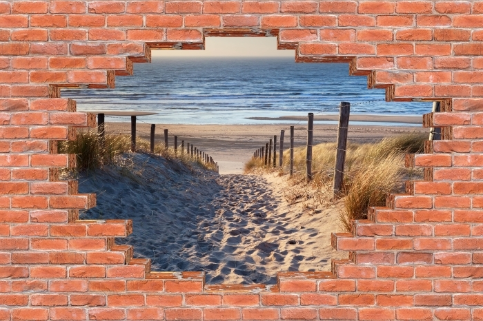Hole in the wall - North Sea Vinyl Wall Mural - Holes in the wall