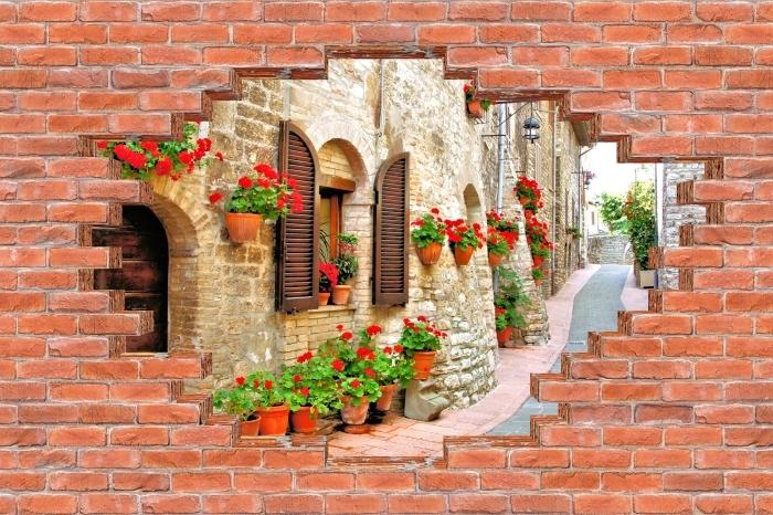 Fotomural Estándar Agujero en la pared - colina italiana - Agujeros en la pared