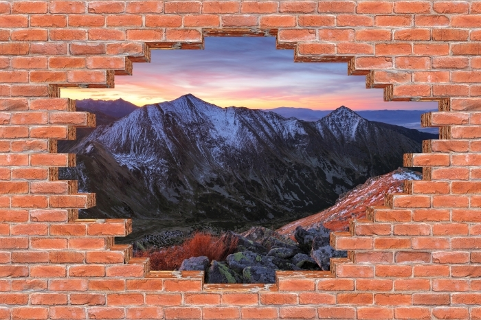 Vinyl Fotobehang Gat in de muur - Tatry - Gaten in de muur