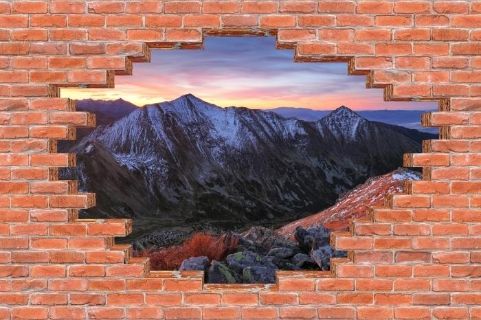 Papier peint vinyle Trou dans le mur - Tatry - Les trous dans le mur