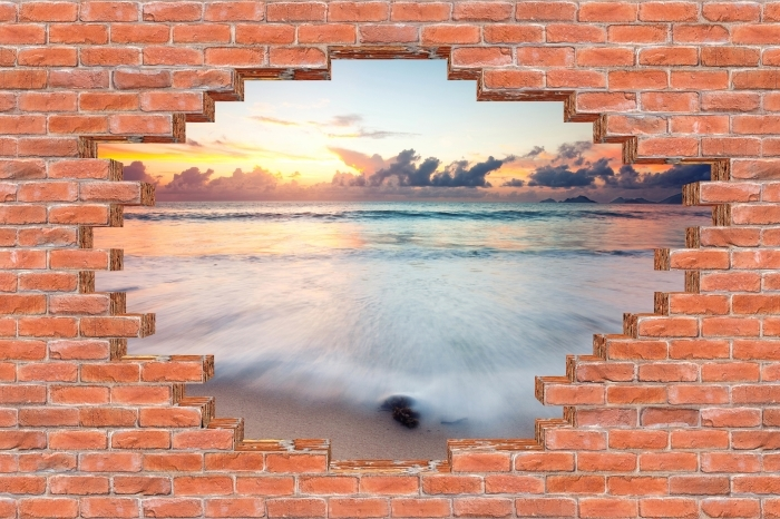 Hole in the wall - Beach Vinyl Wall Mural - Holes in the wall