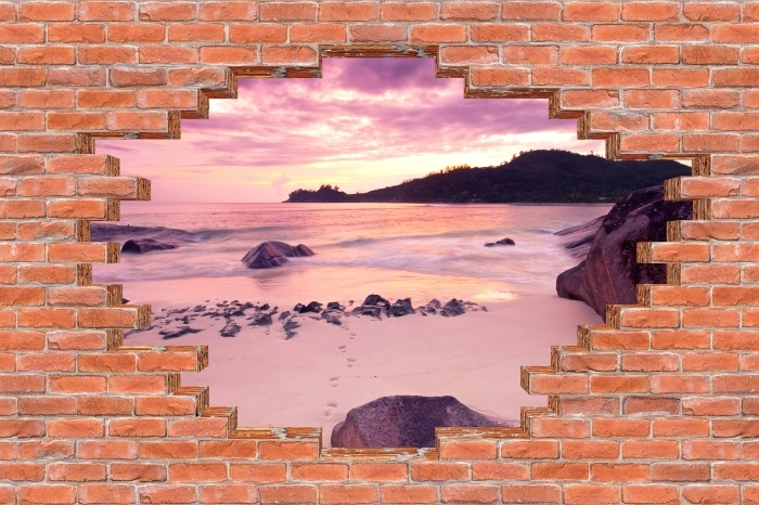 Hole in the wall - Sunset Vinyl Wall Mural - Holes in the wall