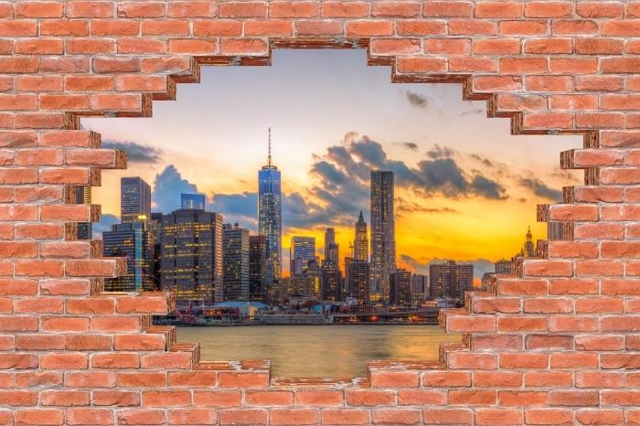 Hole in the wall - Brooklyn Bridge Vinyl Wall Mural - Holes in the wall